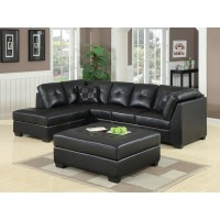 DARIE SECTIONAL - Darie Contemporary Black Sectional