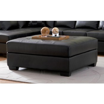 DARIE SECTIONAL - Darie Contemporary Black Ottoman
