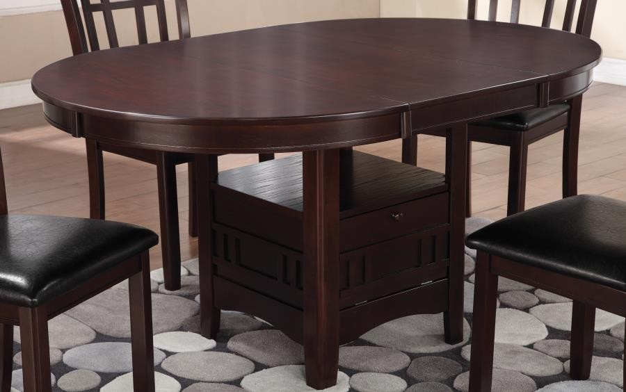 LAVON COLLECTION - Lavon Transitional Warm Brown Dining Table
