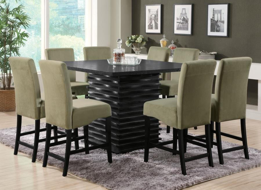 STANTON COLLECTION - Stanton Contemporary Black Counter-Height Table