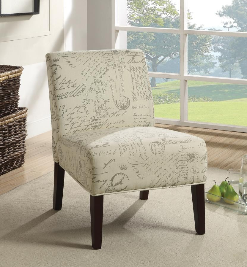 mesmerizing living room accent chair | ACCENT CHAIRS - Traditional Off-White and Grey Accent ...