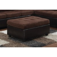 MALLORY SECTIONAL - Mallory Casual Chocolate Ottoman