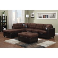 MALLORY SECTIONAL - Mallory Casual Chocolate Sectional