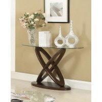 LIVING ROOM: GLASS TOP OCCASIONAL TABLES - Occasional Casual Espresso Sofa Table