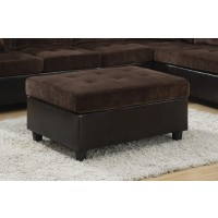 MALLORY SECTIONAL - Mallory Casual Dark Chocolate Ottoman