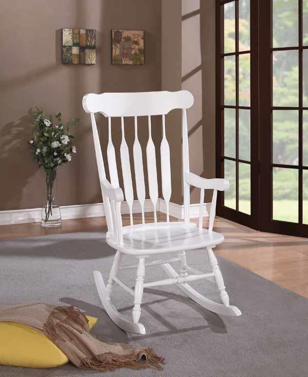 LIVING ROOM: ROCKING CHAIRS - Traditional White Rocking Chair