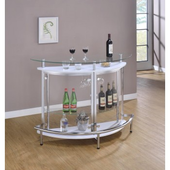 BAR UNITS: CONTEMPORARY - Glass and Chrome Bar Unit