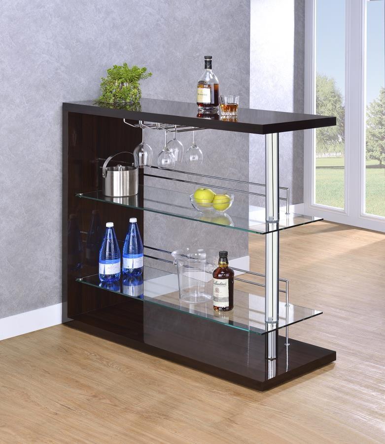 Bar Units Contemporary Two Shelf Contemporary