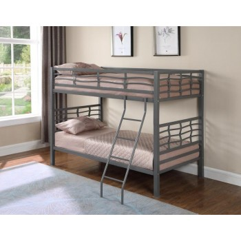 FAIRFAX BUNK BED - Contemporary Metal Bunk Bed