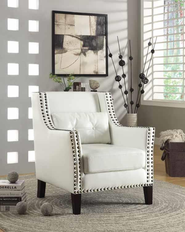 Miraculous Accents Chairs Traditional White Accent Chair 902225 Inzonedesignstudio Interior Chair Design Inzonedesignstudiocom