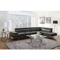PIPER COLLECTION - Piper Contemporary Charcoal Sectional