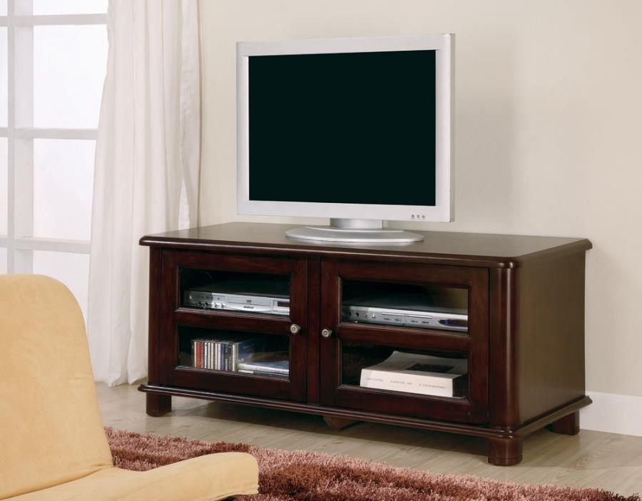 LIVING ROOM : TV CONSOLES - Casual Merlot TV Console