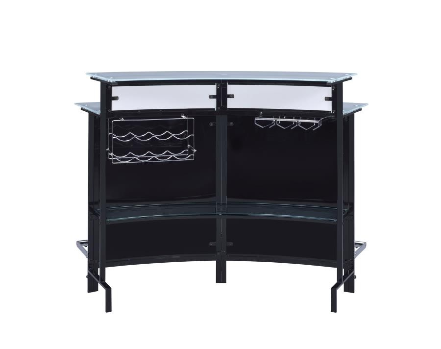 Bar Units Contemporary Two Shelf Contemporary Chrome