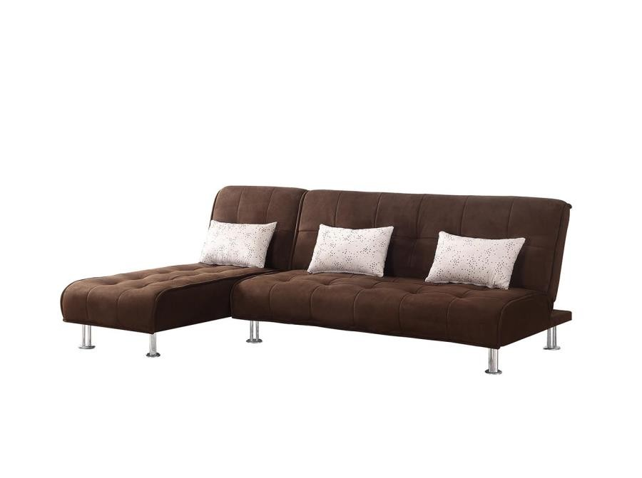 Ellwood Collection Ellwood Transitional Brown Sofa Bed