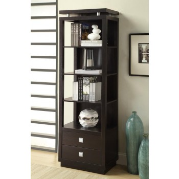 LIVING ROOM : TV CONSOLES - Contemporary Cappuccino Bookcase