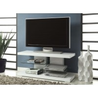 LIVING ROOM : TV CONSOLES - Contemporary Glossy White TV Console
