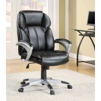 HOME OFFICE : CHAIRS - Transitional Black Office Chair