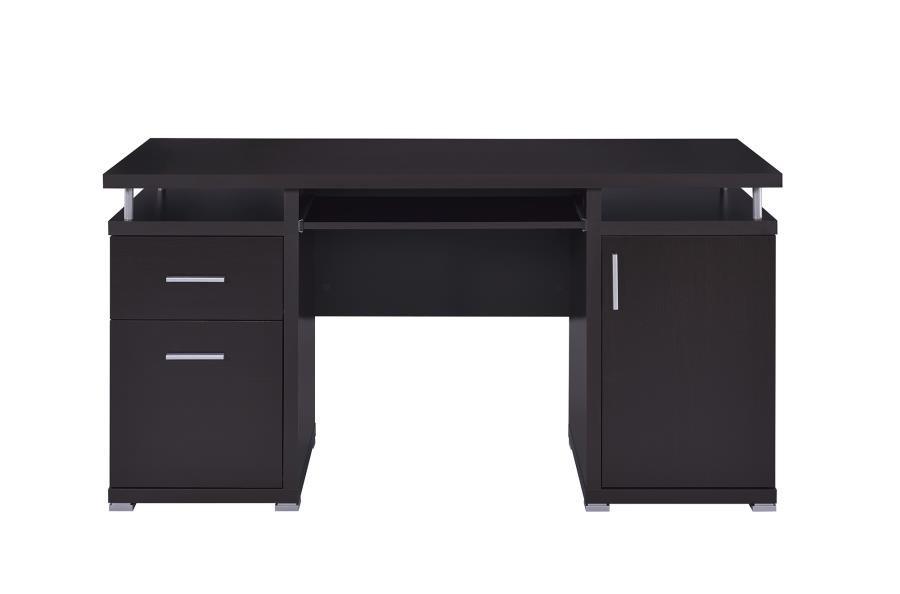 timeless design 03c9c db1ed TRACY DESK - Contemporary Cappuccino Computer Desk