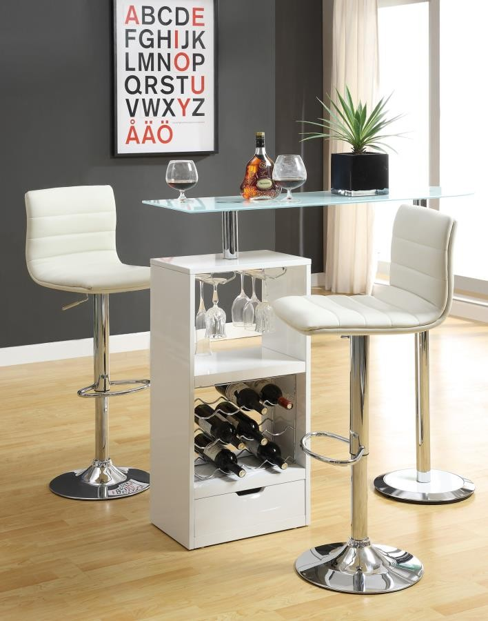 BAR UNITS: CONTEMPORARY - Contemporary White Bar Table