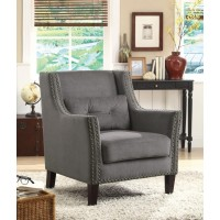 ACCENTS : CHAIRS - Transitional Grey Accent Chair