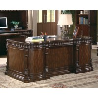 TUCKER COLLECTION - Tucker Traditional Rich Brown Executive Desk