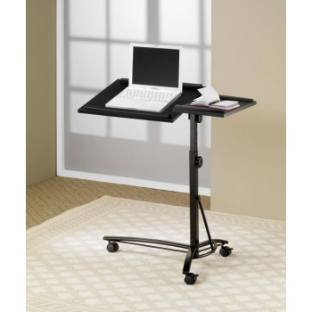 HOME OFFICE : DESKS - Transitional Black Laptop Stand