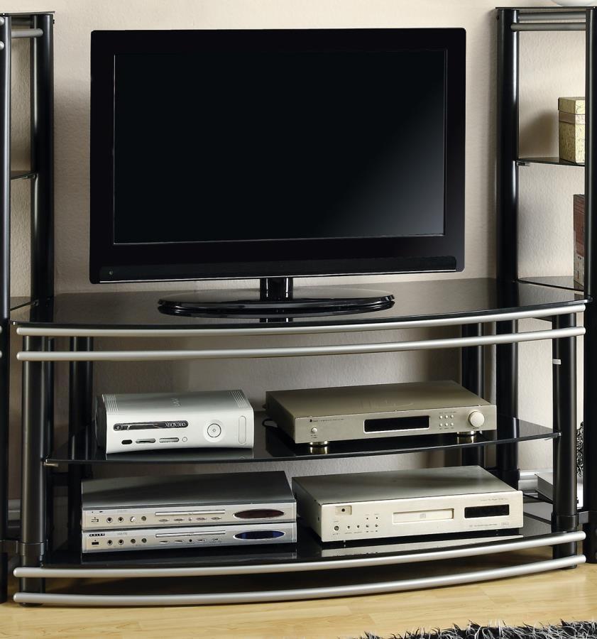 LIVING ROOM : TV CONSOLES - Contemporary Black Metal TV Console