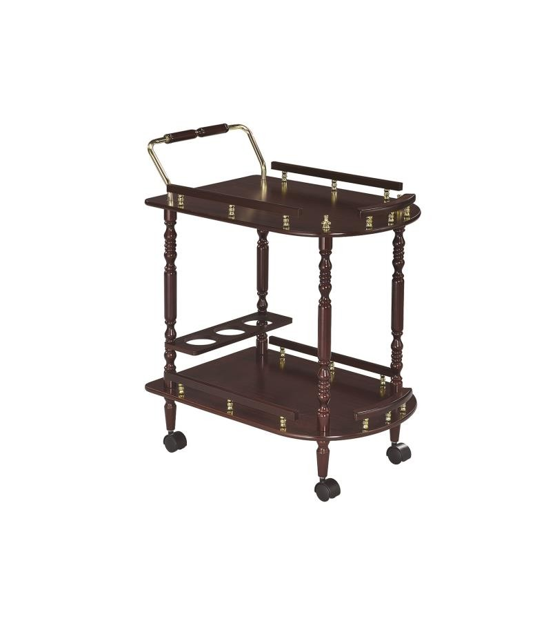 REC ROOM: SERVING CARTS - Recreation Room Traditional Merlot Serving Cart