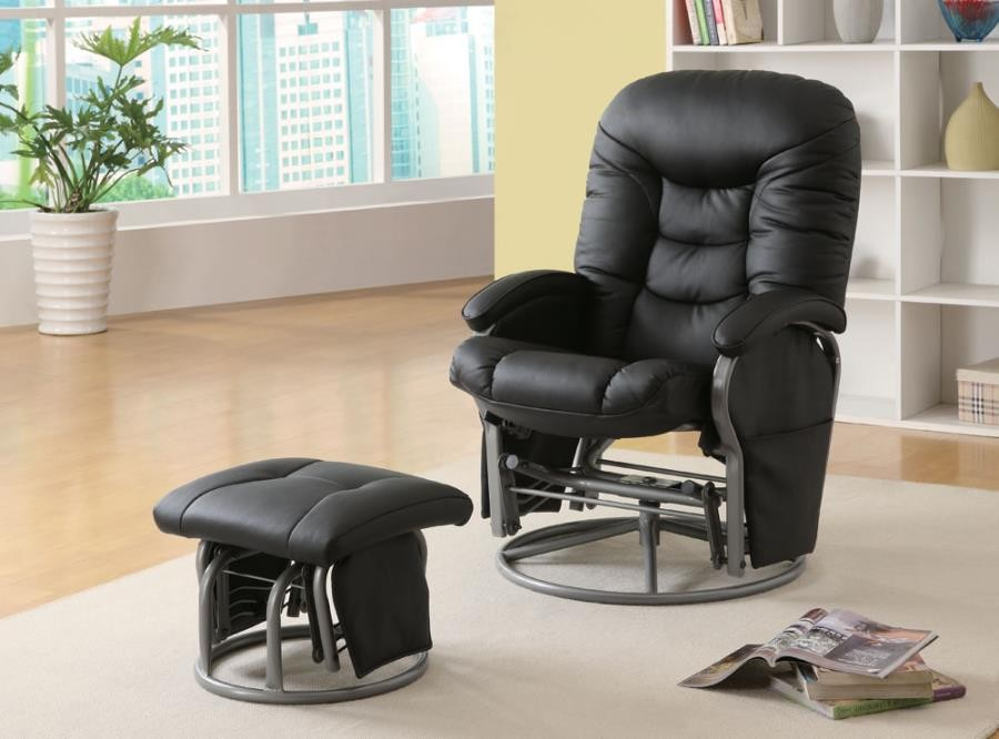 LIVING ROOM : GLIDERS - Casual Black Glider