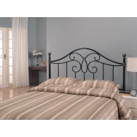METAL HEADBOARD - Traditional Black Iron Queen Headboard