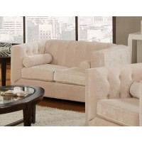 Alexis Collection - Alexis Transitional Almond Loveseat