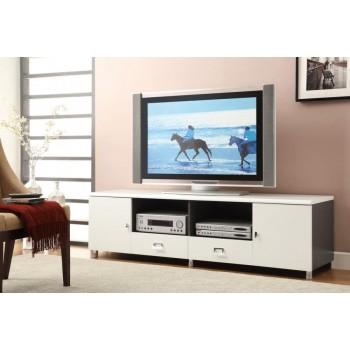 LIVING ROOM : TV CONSOLES - Contemporary White TV Console