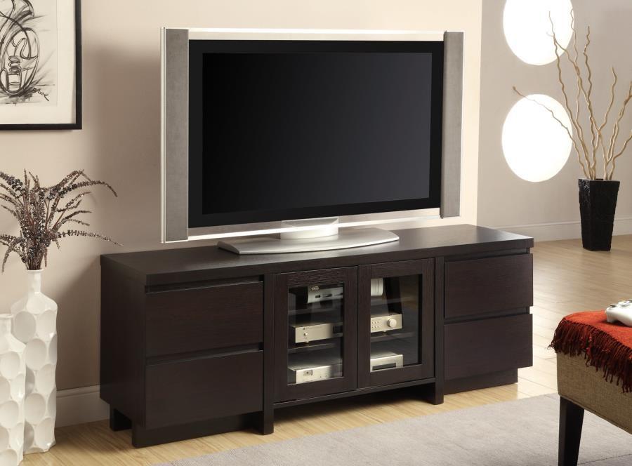 LIVING ROOM : TV CONSOLES - Contemporary Cappuccino TV Console