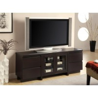 LIVING ROOM : TV CONSOLES - Contemporary Cappuccino TV Console