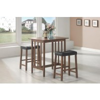 PACKAGED SETS: 3 PC SET - Casual Brown Three-Piece Table Set