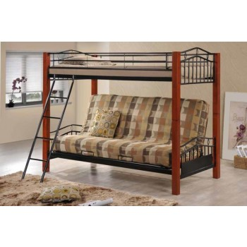 COLLINS COLLECTION - Collins Collection Cinnamon and Black Transitional Bunk Bed