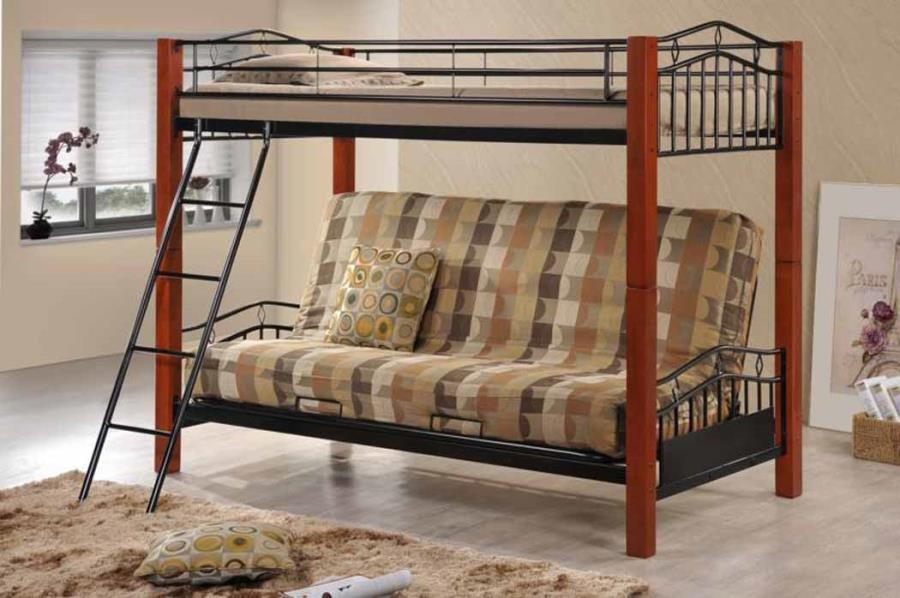Collins Collection Twin Futon Bunk Bed 2249 Bunk Beds