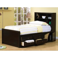 PHOENIX COLLECTION - Phoenix Twin Bookcase Bed