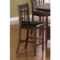LAVON COLLECTION - Lavon Transitional Espresso Counter-Height Chair (Pack of 2)