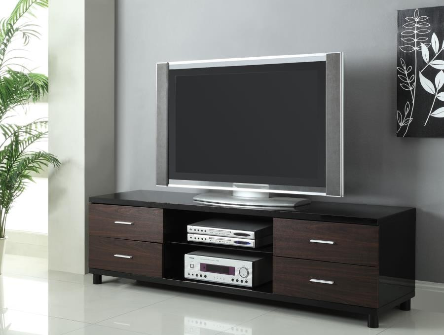 Living Room Tv Consoles Contemporary Two Tone Tv Console 700826 Tv Stands And Media Centers Midtown Outlet Home Furnishings