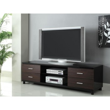 LIVING ROOM : TV CONSOLES - Contemporary Two-Tone TV Console