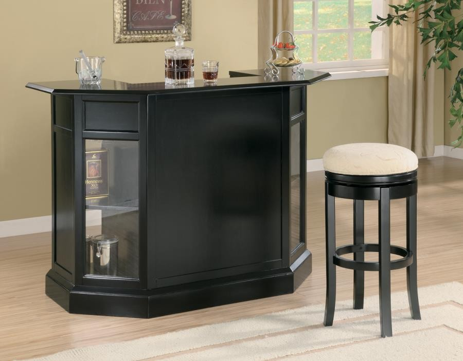 BAR UNITS: TRADITIONAL/TRANSITIONAL - Contemporary Black Bar Unit