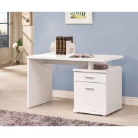 IRVING COLLECTION - Contemporary White Executive Desk