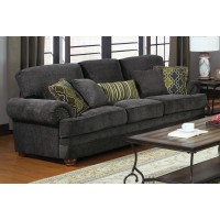 COLTON COLLECTION - Colton Traditional Smokey Grey Sofa