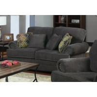 COLTON COLLECTION - Colton Traditional Smokey Grey Loveseat