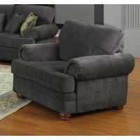 COLTON COLLECTION - Colton Traditional Smokey Grey Chair