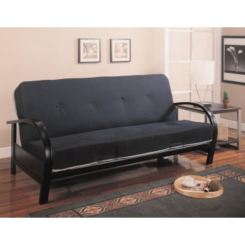 LIVING ROOM : FUTON FRAMES - Transitional Black Futon Frame