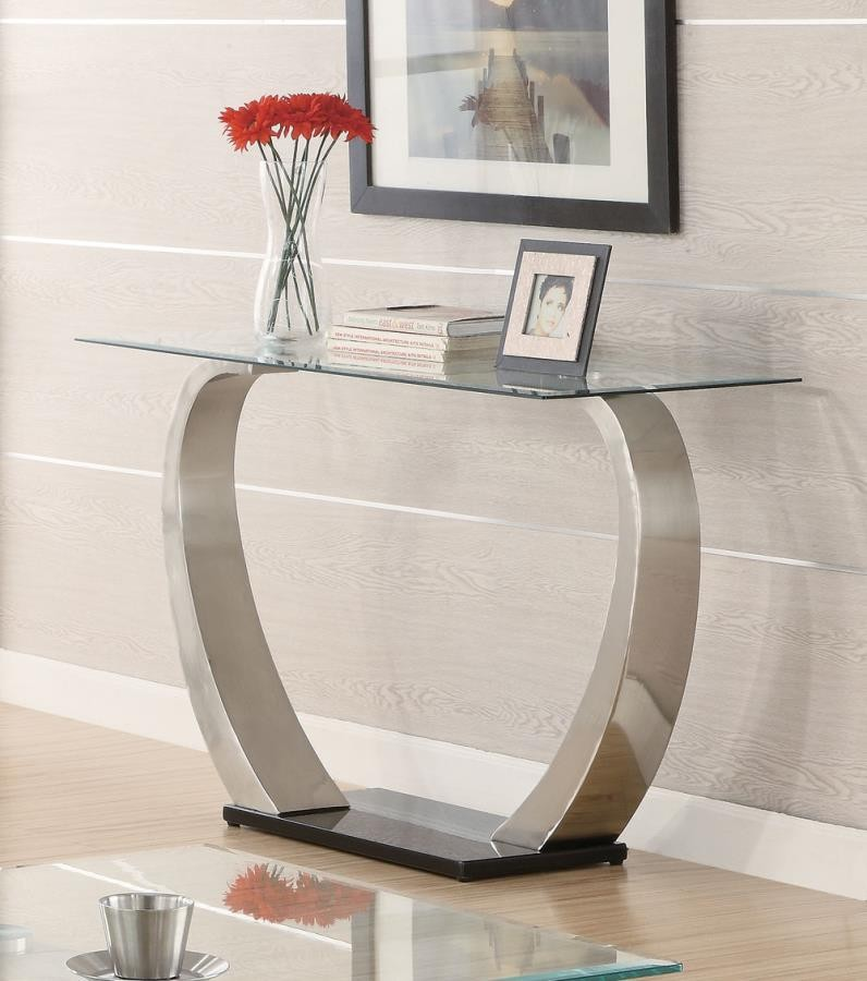 LIVING ROOM: GLASS TOP OCCASIONAL TABLES - Contemporary Sofa Table