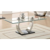 LIVING ROOM: GLASS TOP OCCASIONAL TABLES - Contemporary Coffee Table