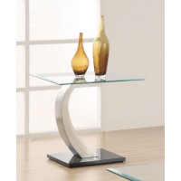 LIVING ROOM: GLASS TOP OCCASIONAL TABLES - Contemporary End Table